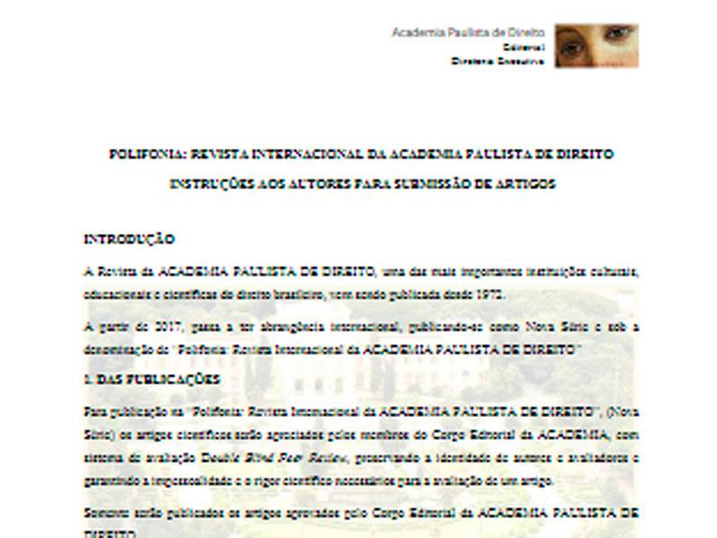 Academia POLIFONIA Revista Normas Presidência PT BR 2018
