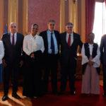 Dr. Attié com Nelson Oliveira, José Eduardo Cardozo, Nuno Coelho e Juízas da Guiné-Bissau e de Angola