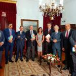 Dr. Attié entre o Presidente do Tribunal da Relação de Lisboa, Dês. Orlando Santos Nascimento, e o Secretário-geral da CJLP Dr. Nelson Faria de Oliveira