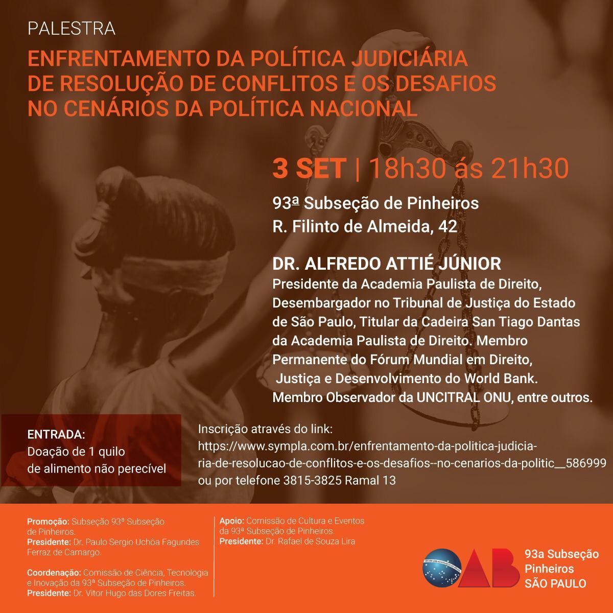 Política Judiciária de Resolução de Conflitos e Cenários da Política Nacional