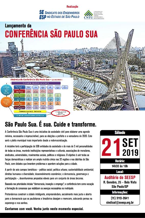 A Cidade e a Metrópole: Conferência São Paulo Sua