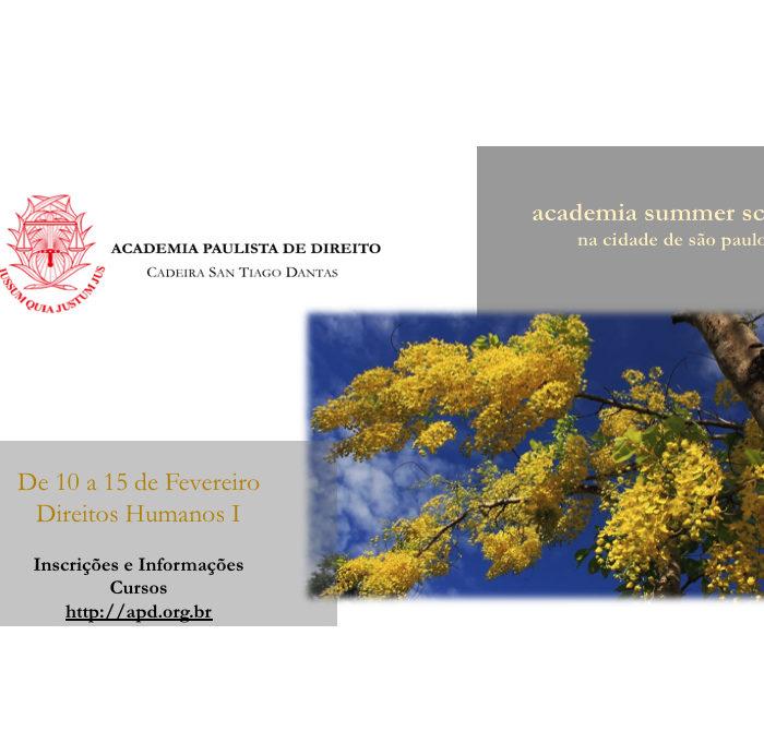 Academia realizará Curso de Verão, nos dias 11 a 15 de fevereiro