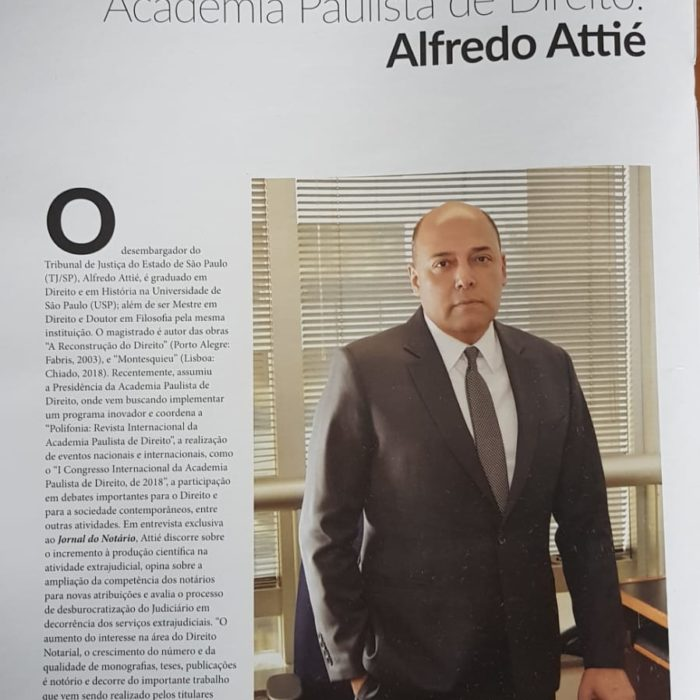 "Entrevista: ""Conheça o Presidente da Academia Paulista de Direito"""