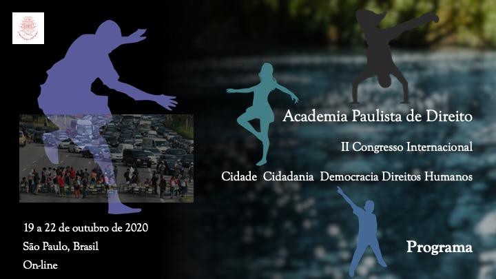 Programação do II Congresso Internacional da Academia Paulista de Direito
