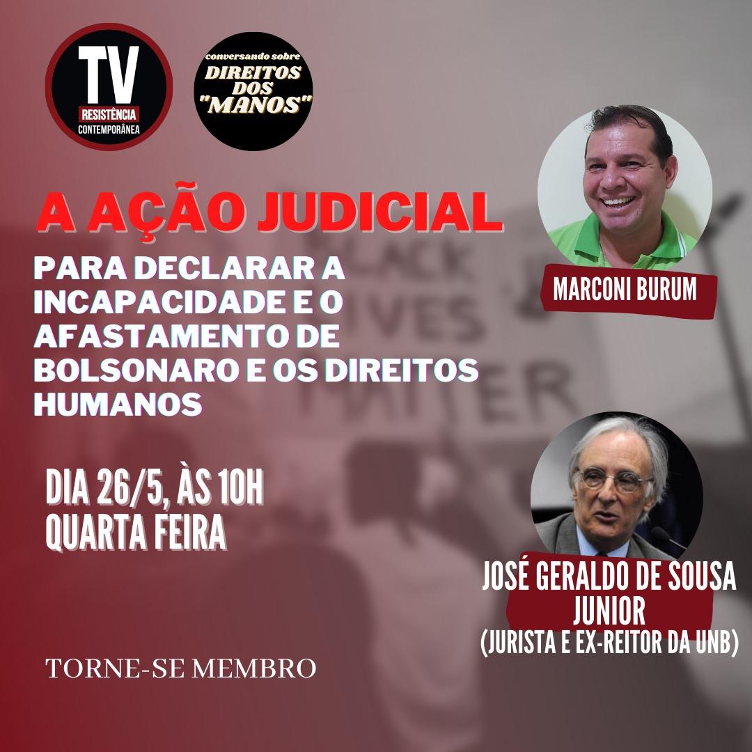 José Geraldo de Sousa Jr fala à TV Resistência Contemporânea sobre a Ação de Incapacidade no STF