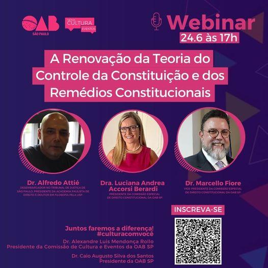 A Renovação da Teoria do Controle Constitucional é tema da Conferência de Alfredo Attié, na OAB