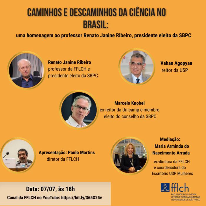 Renato Janine Ribeiro é homenageado na Universidade de São Paulo